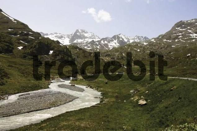 Faggenbach Stream, Kaunertal Valley, Tyrol, Austria, Europe