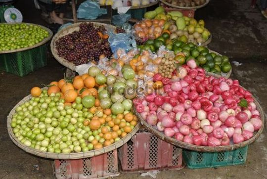 Various exotic fruits at the market from Hoi An, UNESCO World Heritage Site, Vietnam, Asia