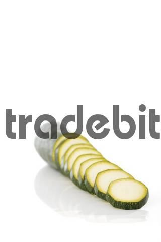 Sliced Zucchini Cucurbita pepo
