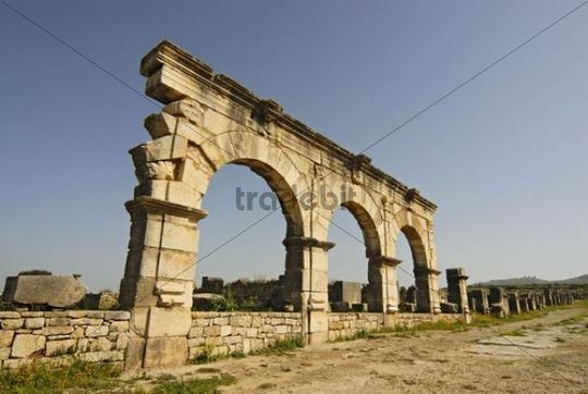 The Gordian Palace at the ruined Roman city of Volubilis, Morocco, Africa