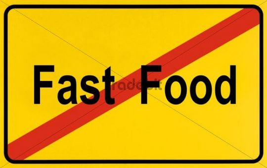Sign End Of City Limits As Symbol For The End Of Fast Food Down