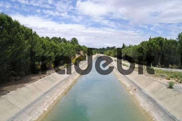 Tajo Segura Canal, Jucar River Valley, Albacete, Castile-La Mancha, Spain, Europe