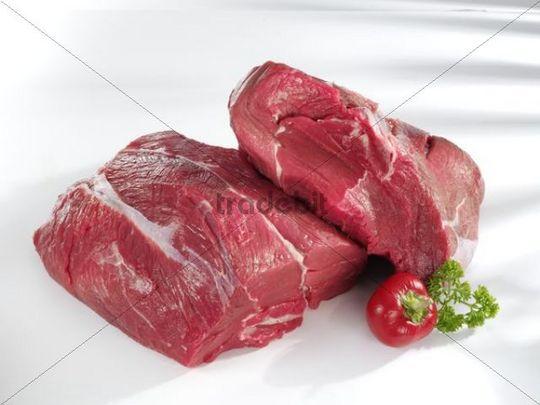Raw beef shin