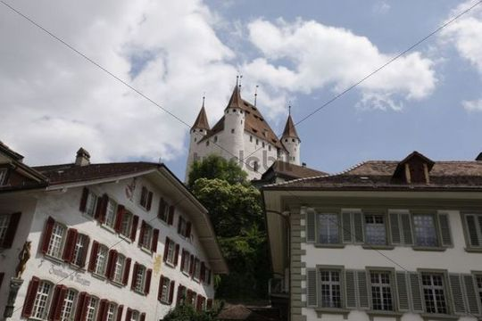 View of the city, Thun Castle, Thun, Switzerland, Europe