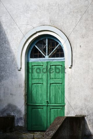 Door of an Orthodox church in Kasepaeae, Lake Peipus, Peipsi jaerv, Estonia, Baltic States, Northeast Europe