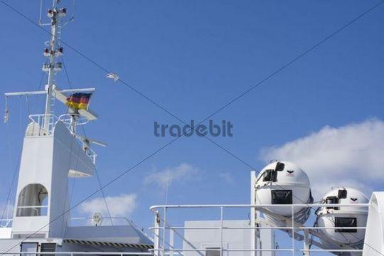 Ferry, Vogelfluglinie, route between Puttgarden and Roedby, Puttgarden, Fehmarn, German, Europe