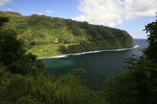Road to Hana, popular tourist road, east coast of Maui Island, Hawaii, Hawaii, USA