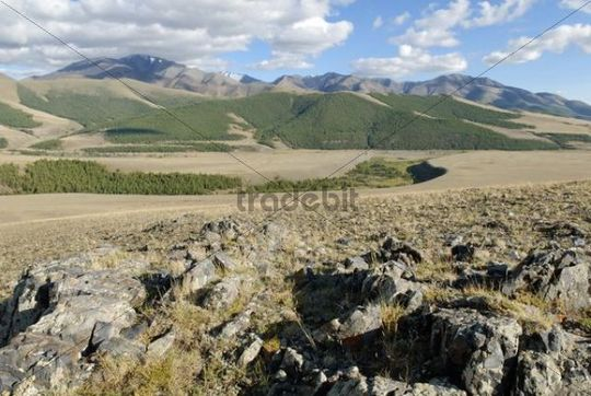 Saylyugem Mountains, Tschuja Steppes, Altai Republic, Siberia, Russia, Asia