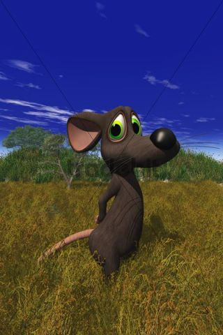 Cartoon image of a mouse looking shy in a field download for Field mouse cartoon
