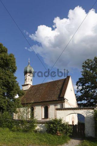 St. Georg Church, Aehndl, near Murnau, Bavaria, Germany, Europe