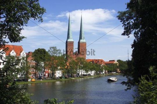 luebeck cathedral cathedral in the old hanseatic city of luebeck a. Black Bedroom Furniture Sets. Home Design Ideas