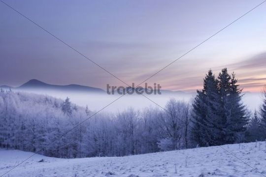 Morning on Kremeniste hill, Strazovske vrchy protected landscape area, Slovakia, Europe