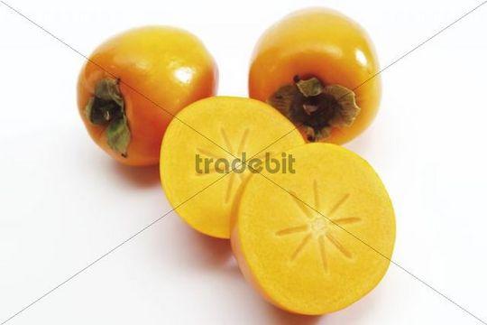 Persimmon or Kaki fruit Diospyros kaki