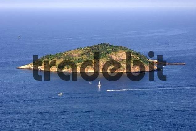 Island in the sun off Rio de Janeiro Atlantic Ocean Brazil