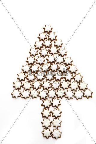 Christmas tree made of Cinnamon star cookies