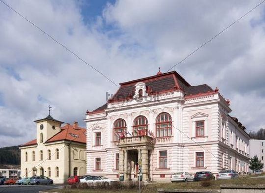 Hotel and gallery in Vsetin, Moravia, Czech Republic, Europe