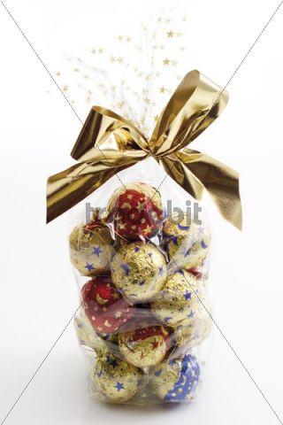 Chocolate balls, sweet Christmas tree decoration