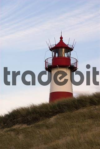 Lighthouse List-East at the northern coast of Sylt, Schleswig Holstein, Germany