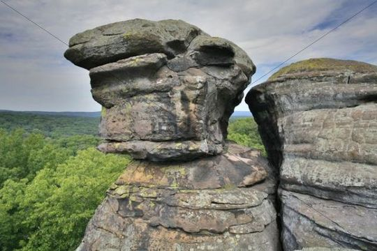 Sandstone Rocks In The Garden Of The Gods Shawnee National Forest