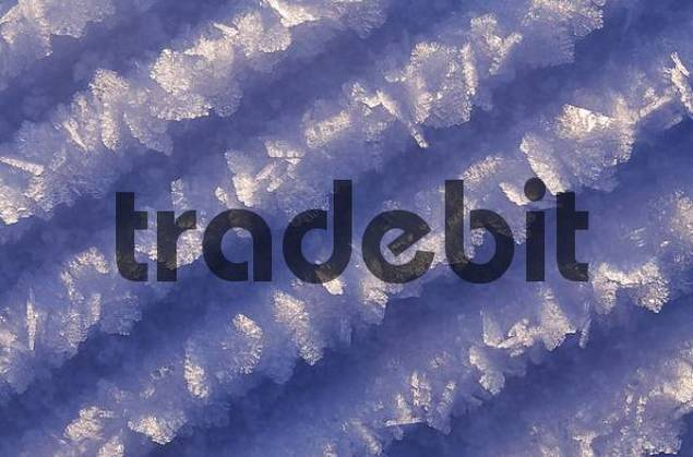 makro of blue ice crystals