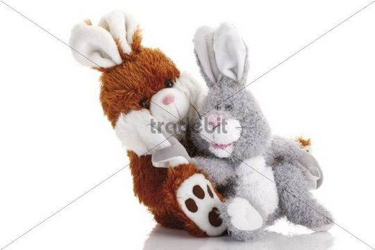 Two east bunny soft toys