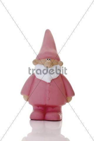 Pink garden gnome