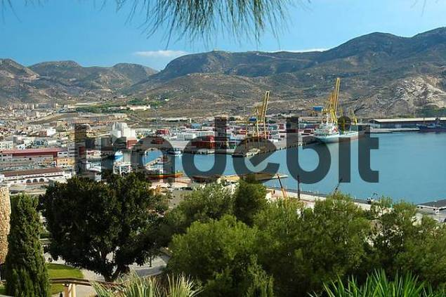 Port area Cartagena Spain