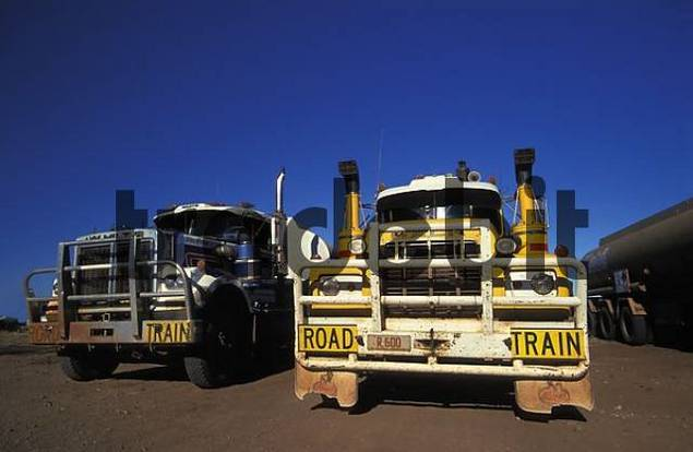 Road Trains at Top Springs Road House, Northern Territory, Australia