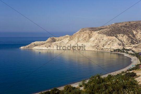 Pissouri Bay, Pissouri Beach, Pissouri Jetty, South Coast of Cyprus, Europe