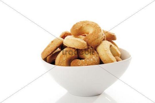 Vanilla Crescents in a dish