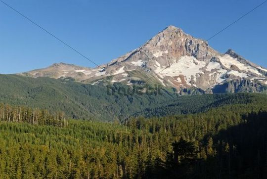 Western edge of the Mount Hood Vocano, Casade Range, Oregon, USA