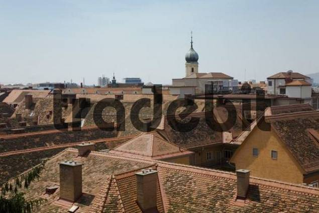 Roof view about Graz, Styria, Austria