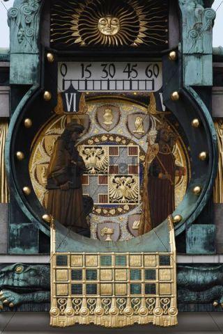 Ankeruhr, Anker clock, art nouveau clock, Hoher Markt, Vienna, Austria, Europe