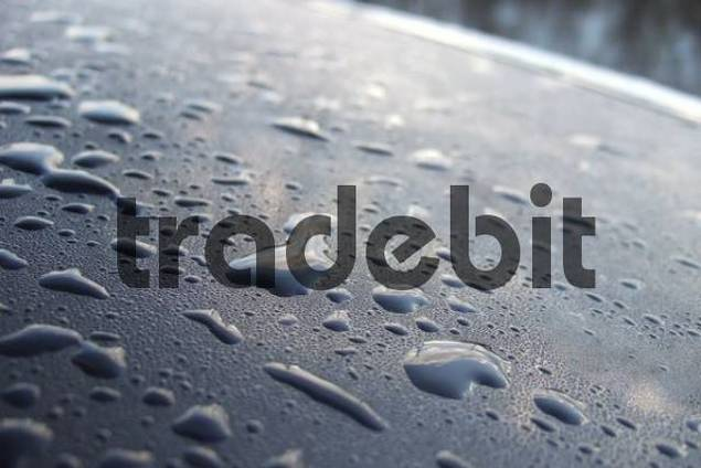 raindrops on car paint