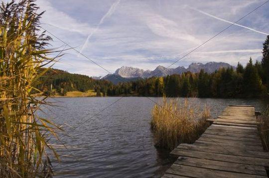 Geroldsee Lake, Wagenbruechsee Lake, Northern Karwendel Chain, Werdenfelser Land, Upper Bavaria, Germany, Europe