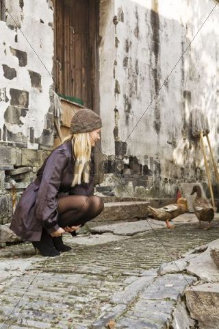 Young woman in Suzhou, Jiangsu, China, Asia