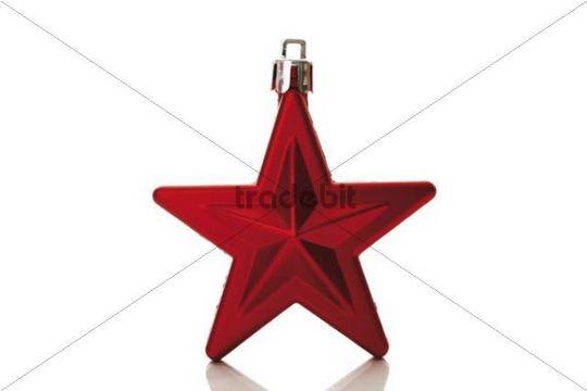 Star christmas tree decoration, bauble