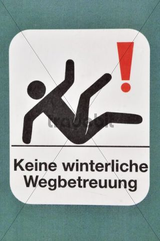 Sign, path not cleared in winter
