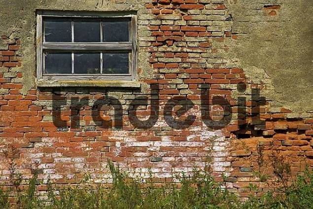 Old brickwall near Dorfen Upper Bavaria Germany
