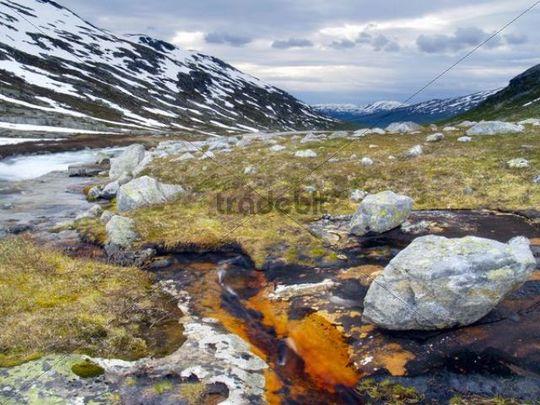 Biseggelva River, Borgefjell National Park, Nordland, Norway, Scandinavia, Northern Europe