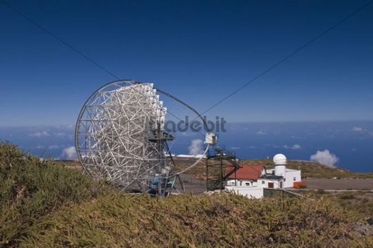 Reflector telescope of the observatory on the Roque de los Muchachos, La Palma, Canary Islands, Spain, Europe