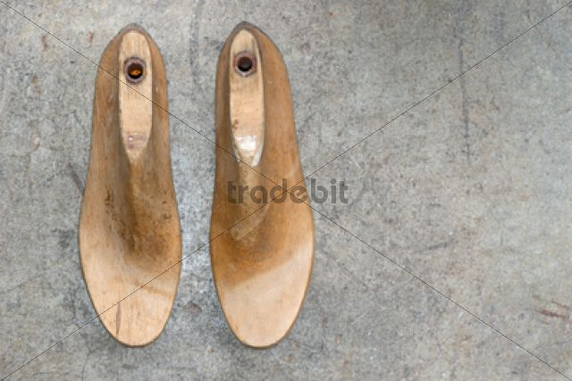 Two antique lasts for manufacturing shoes /