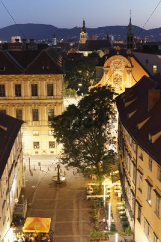 Schlossbergplatz square, Graz, Styria, Austria, Europe, PublicGround