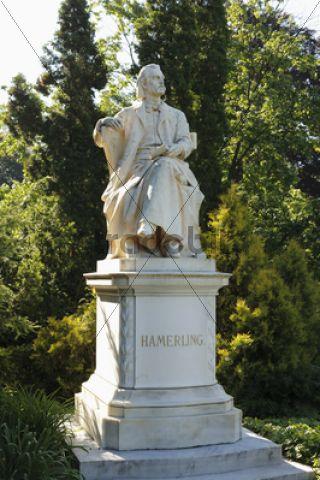 Hamerling monument, Stadtpark, city park, Graz, Styria, Austria, Europe, PublicGround