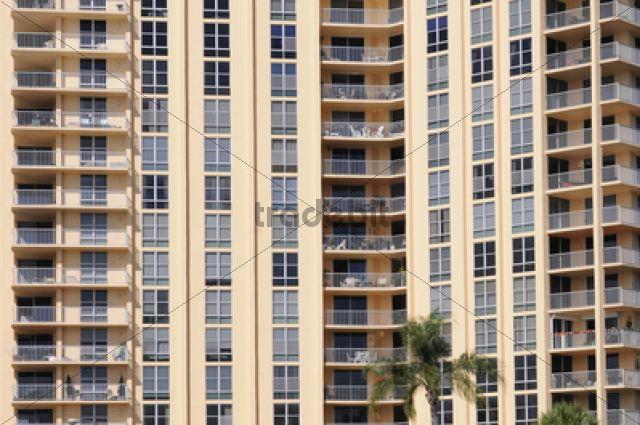 Residential apartment block in Sarasota, Florida, USA