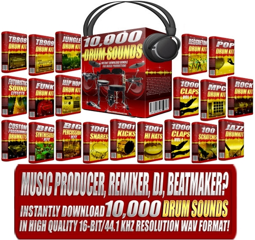 Pay for 10000 DRUM SOUNDS - DRUM SAMPLES
