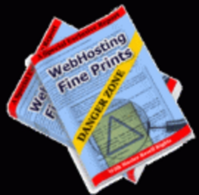 Pay for Web Hosting Fine Prints Danger Zone