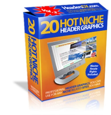 Pay for 20 Hot Niche Header graphics - MRR