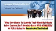 Thumbnail 200 Unrestricted PLR Articles of June 2010