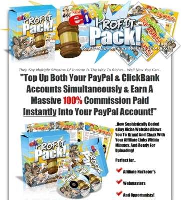 Pay for eBay Profit Pack - Affiliate Website - Master Resell Rights